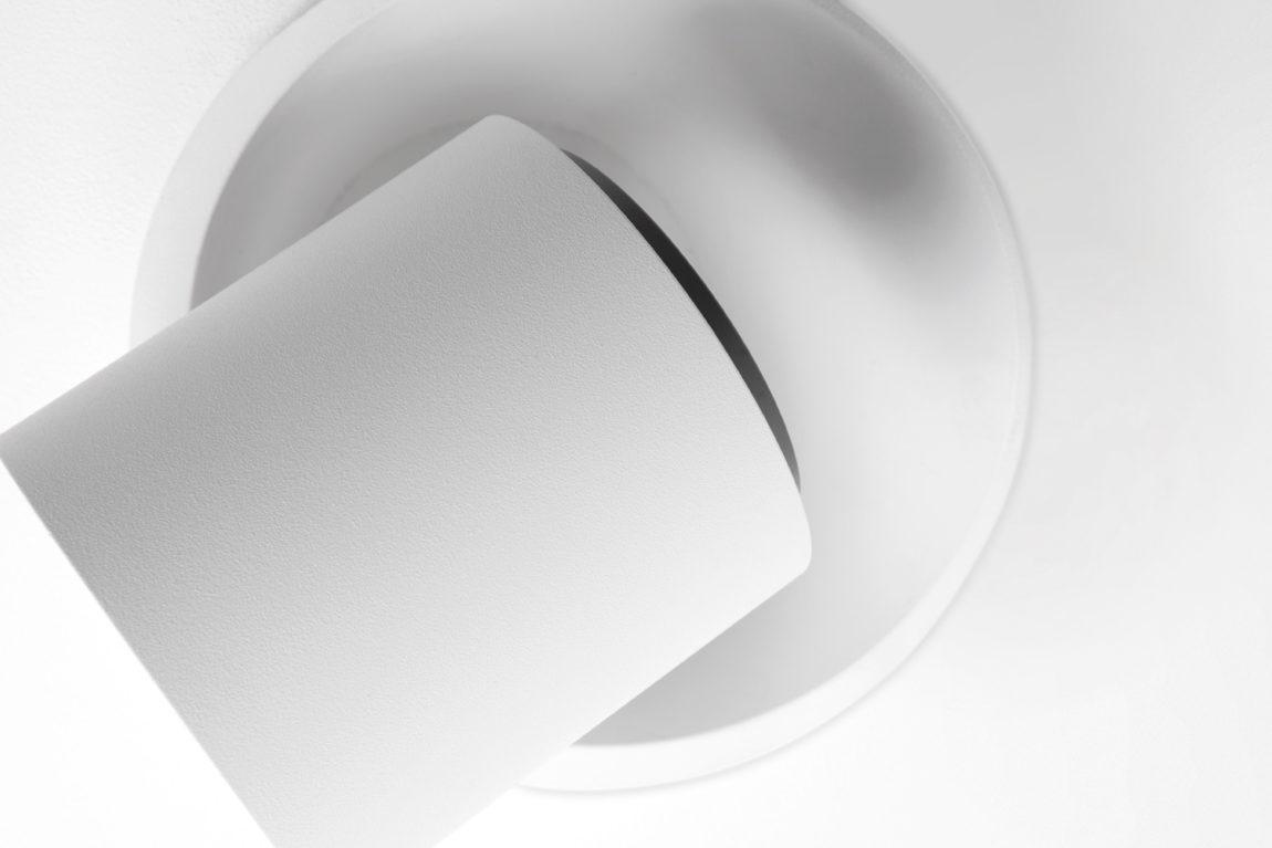 Couvreur devos armatuur modular mod chapeau 1x QT12 GE white struc trimless detail