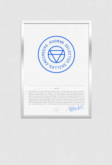 Room40 Vertical Flyer Poster Frame Mockup v2